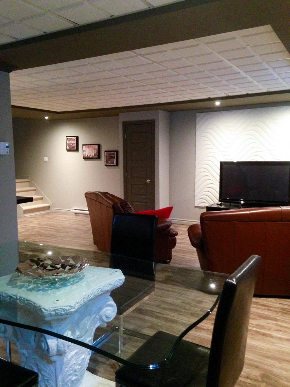 amenagement sous sol comment amnager mon soussol with. Black Bedroom Furniture Sets. Home Design Ideas