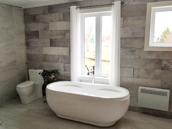 Salle de bain avec c ramique mur mur r novation daniel for Carreaux ceramique salle de bain
