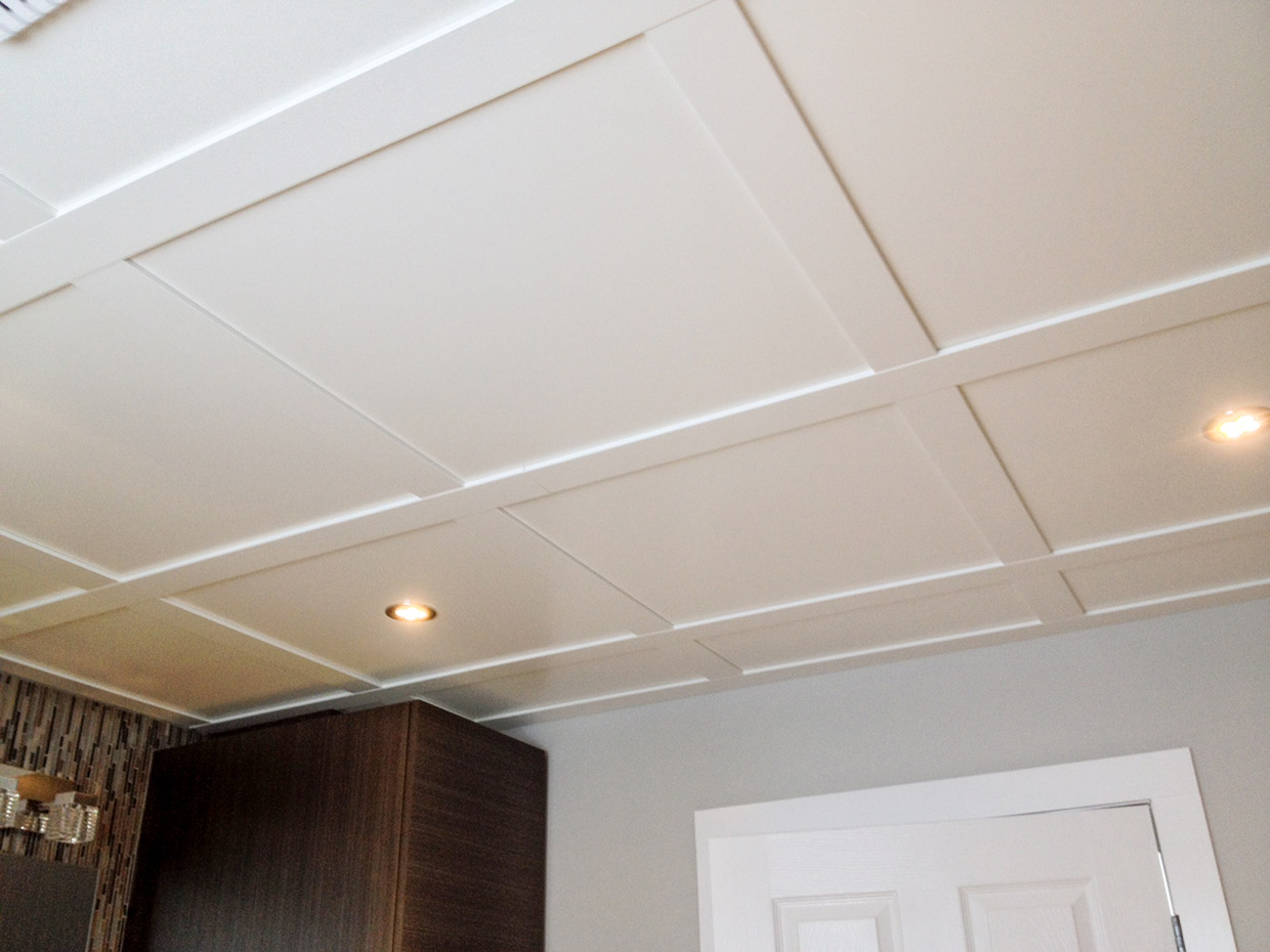 R novation salle de bain et plafond suspendu r novation for Renovation plafond